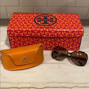 Tory Burch tortoise sunglasses, WITH CASE + BOX